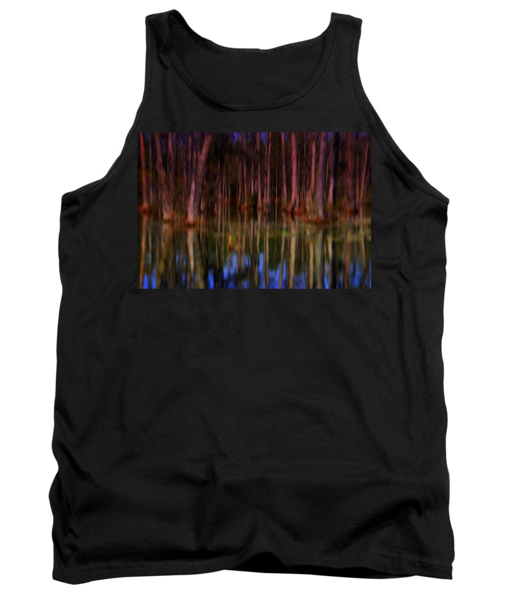 Abstract Tank Top featuring the photograph Psychedelic Swamp Trees by Susanne Van Hulst