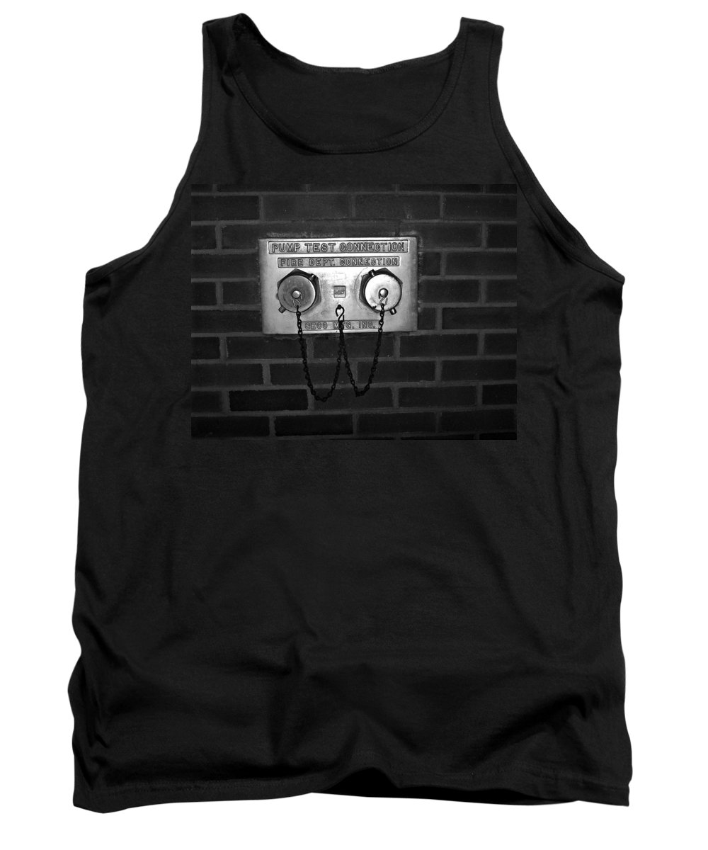 Color Photograph Tank Top featuring the photograph Pump Test by Thomas Valentine