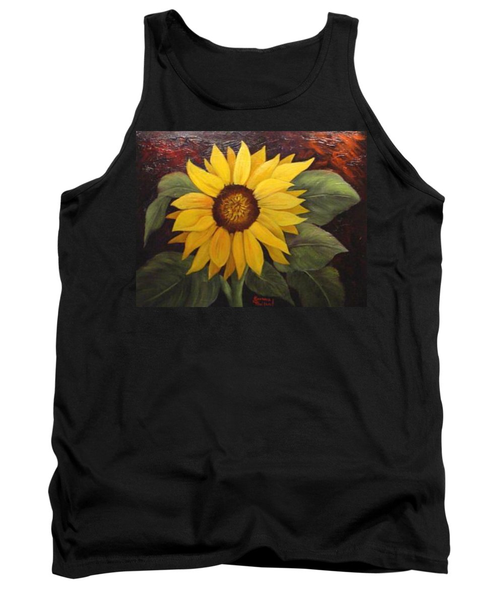 Still Life Tank Top featuring the painting Pure Sunshine Sold by Susan Dehlinger