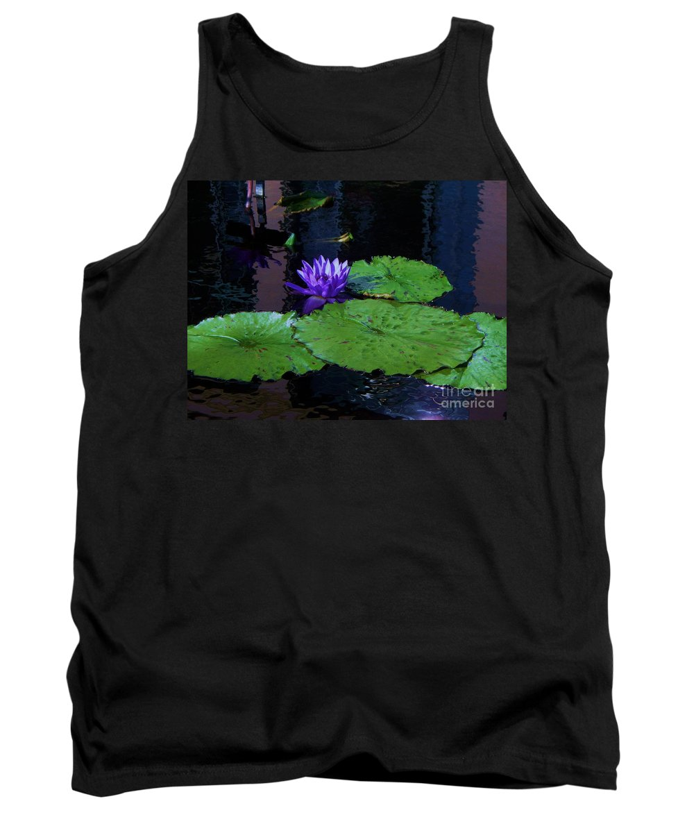 Photograph Tank Top featuring the photograph Purple Blue Lily by Eric Schiabor