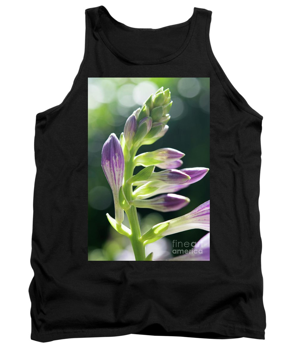 Ohio Flower Tank Top featuring the photograph Purple Buds by Michelle Himes