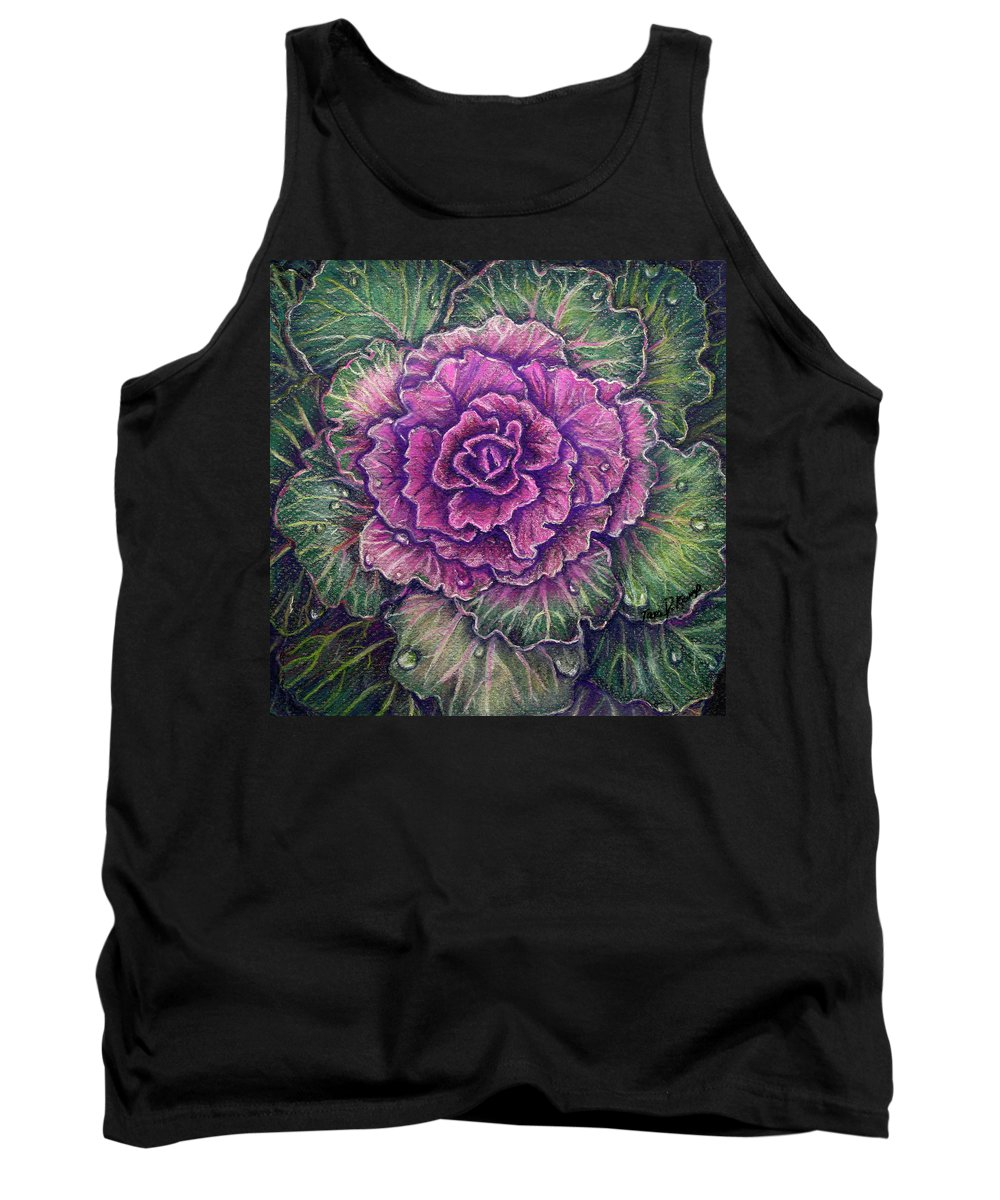 Pastel Tank Top featuring the pastel Purple Cabbage by Tara D Kemp