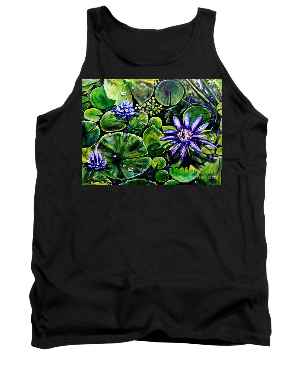 Purple Tank Top featuring the painting Purple Dawn by Elizabeth Robinette Tyndall