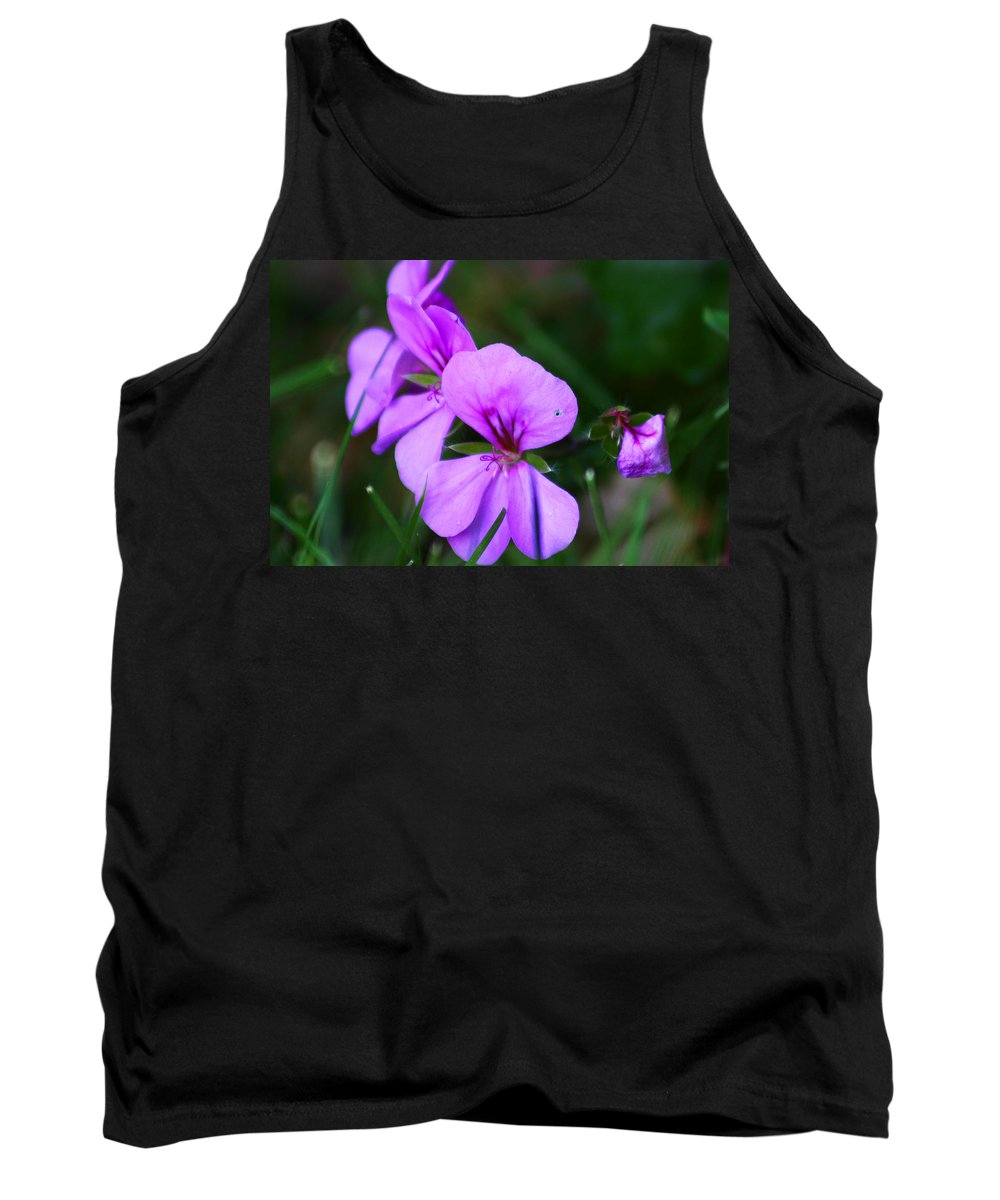 Flowers Tank Top featuring the photograph Purple Flowers by Anthony Jones