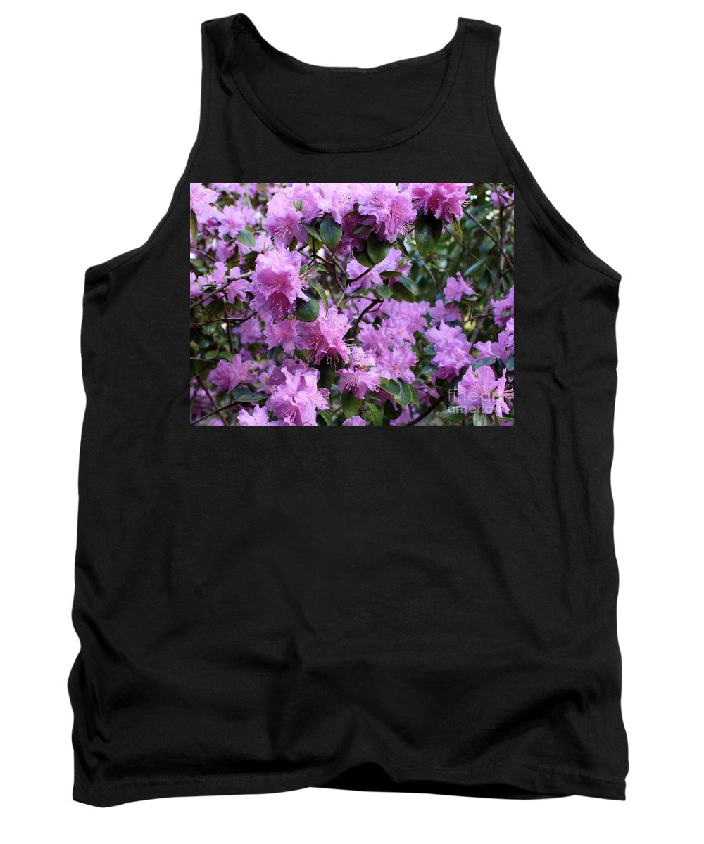 Spring Tank Top featuring the photograph Purple Rhododendrons by Carol Groenen