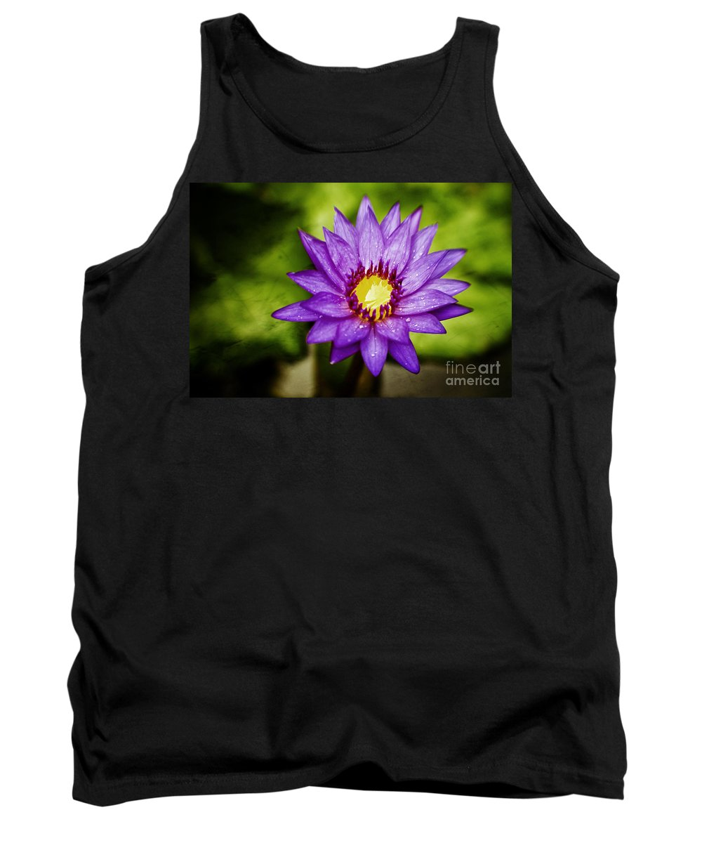 Water Lilly Tank Top featuring the photograph Purple Sunrise by Scott Pellegrin