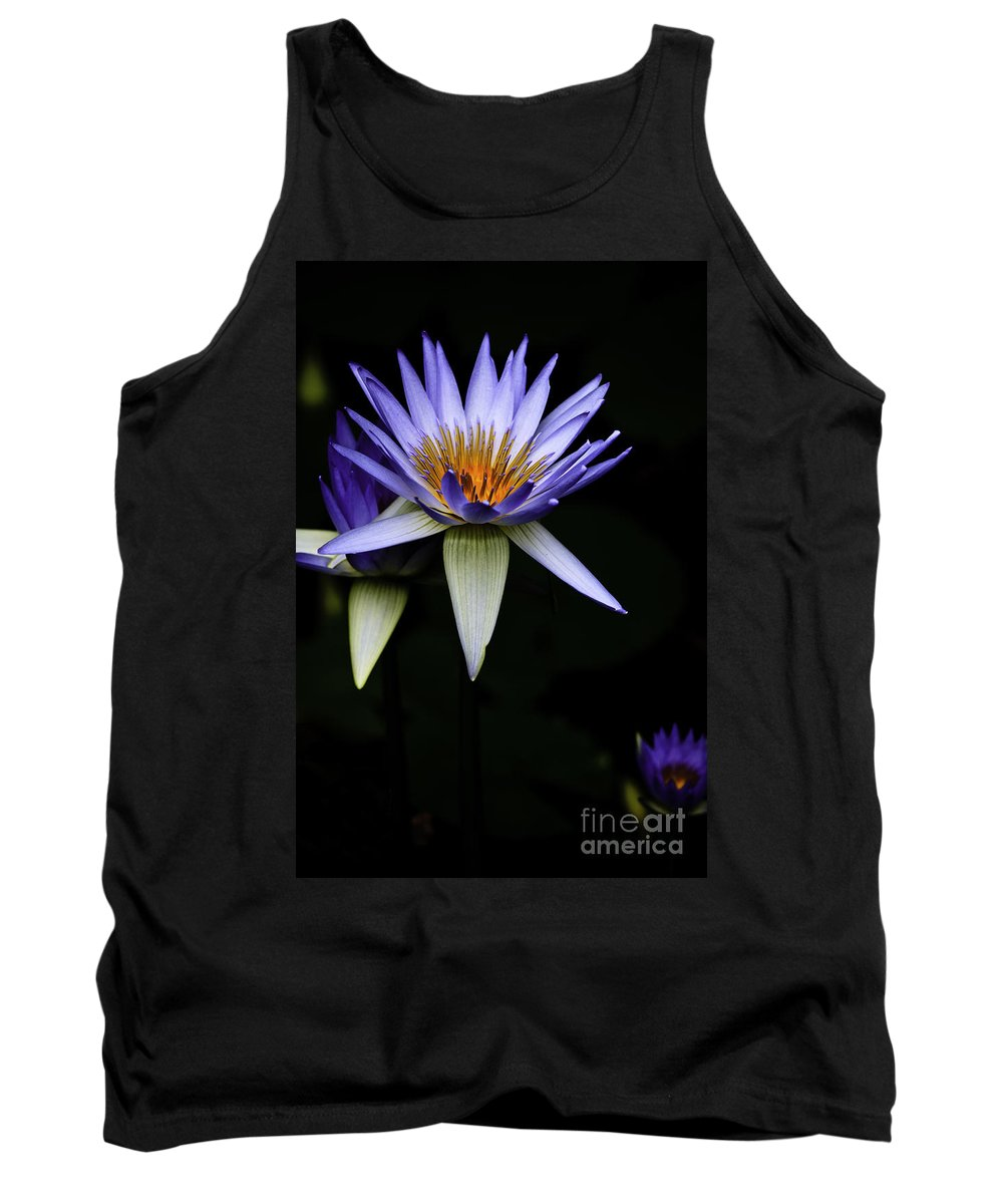 Purple Waterlily Water Lily Flower Flora Tank Top featuring the photograph Purple Waterlily by Sheila Smart Fine Art Photography