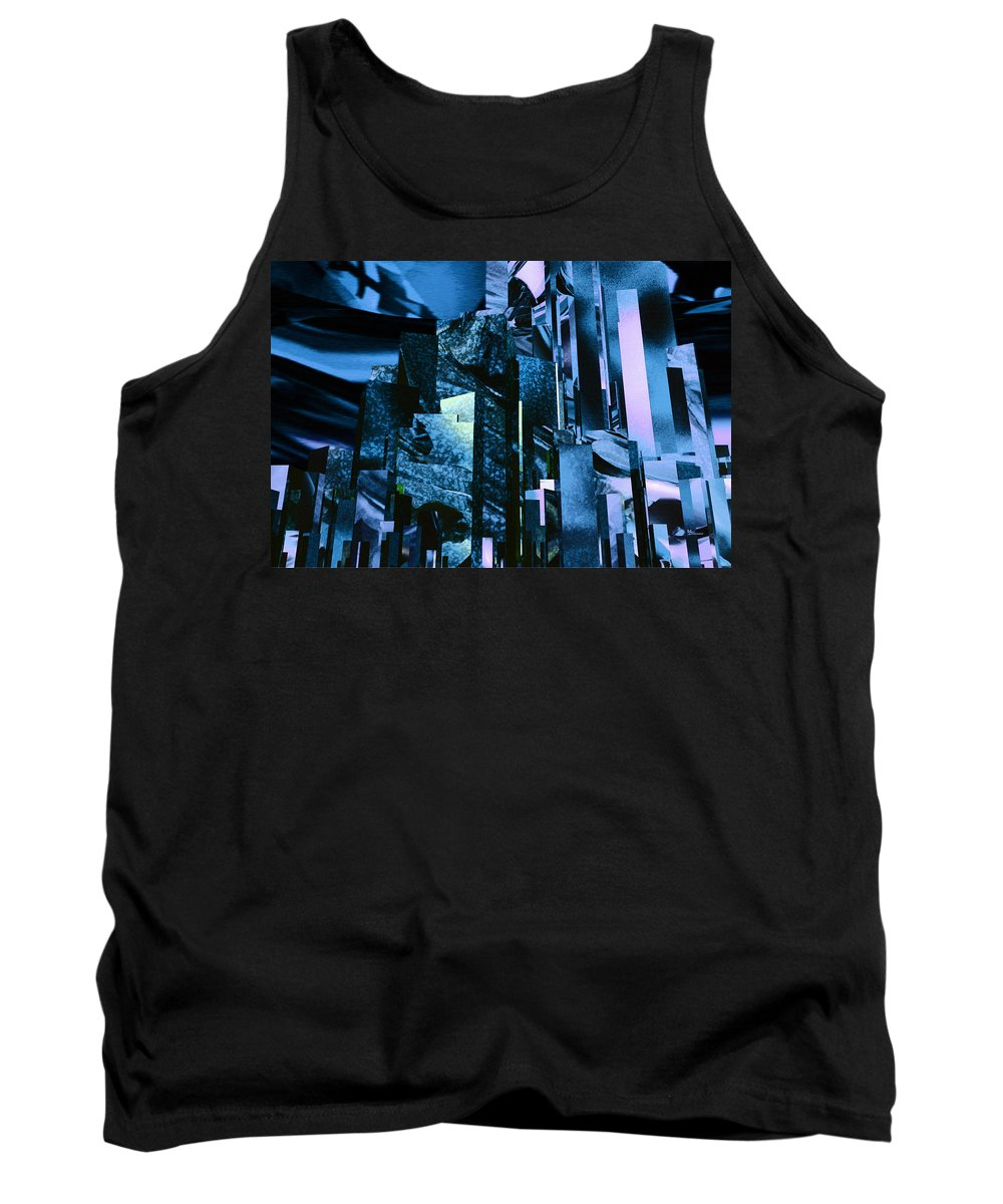 Abstractly Tank Top featuring the digital art Q-city Six by Max Steinwald