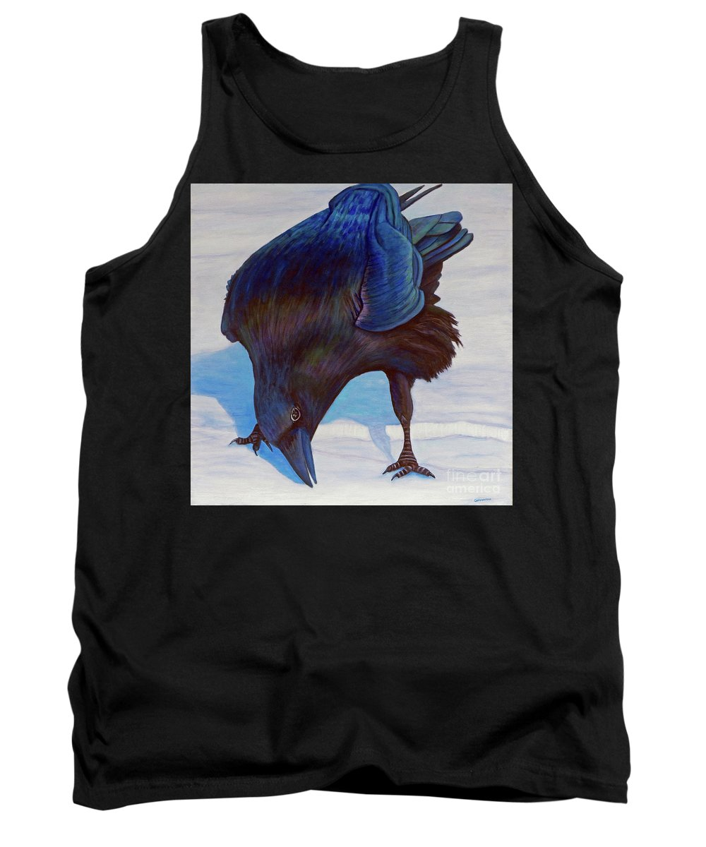 Raven Tank Top featuring the painting Que Pasa by Brian Commerford