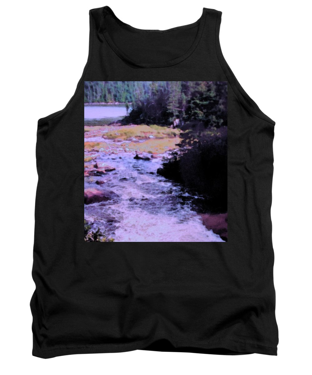Quebec Tank Top featuring the photograph Quebec River by Ian MacDonald