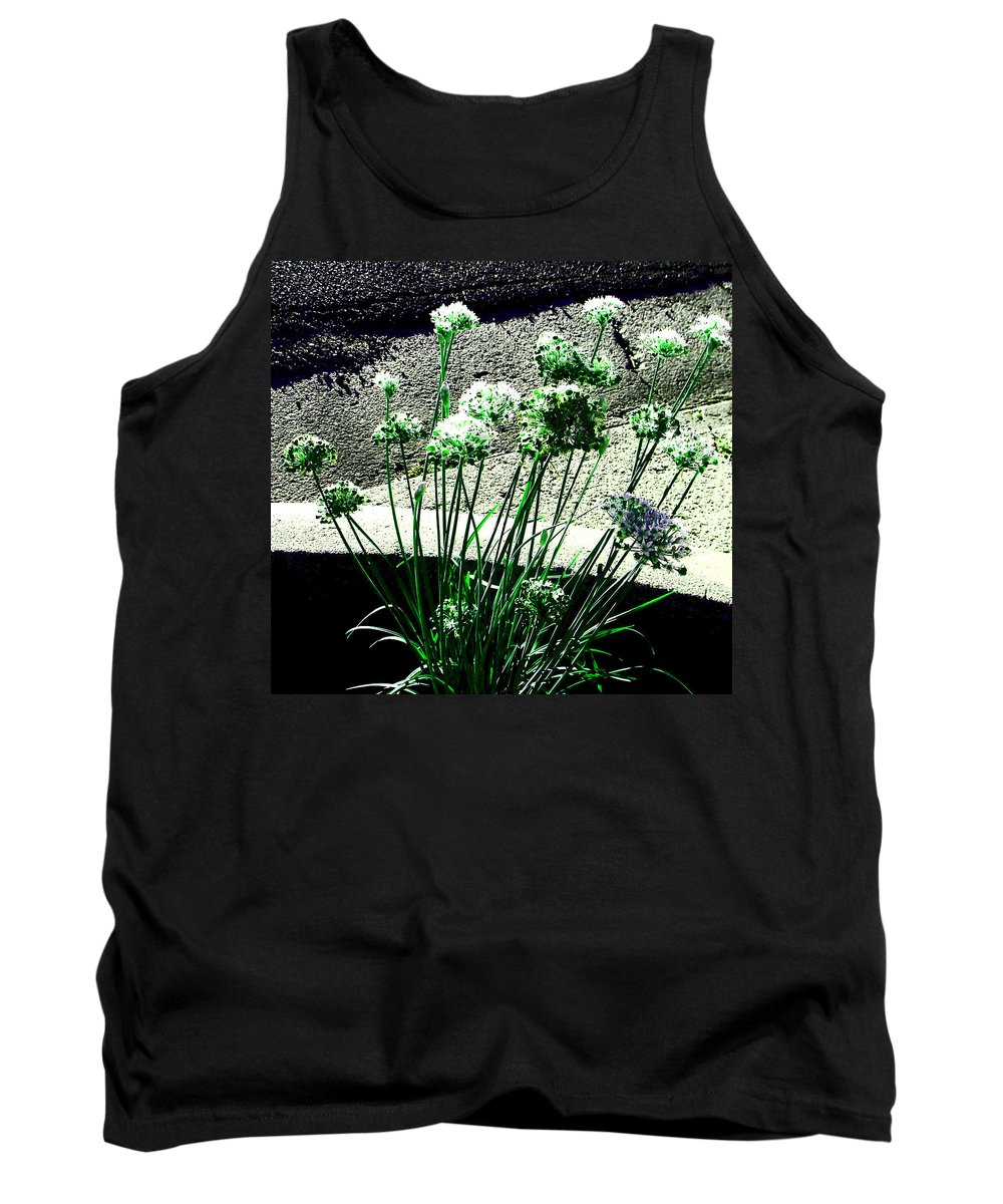 Abstract Tank Top featuring the photograph Queen Anne's Lace by Lenore Senior