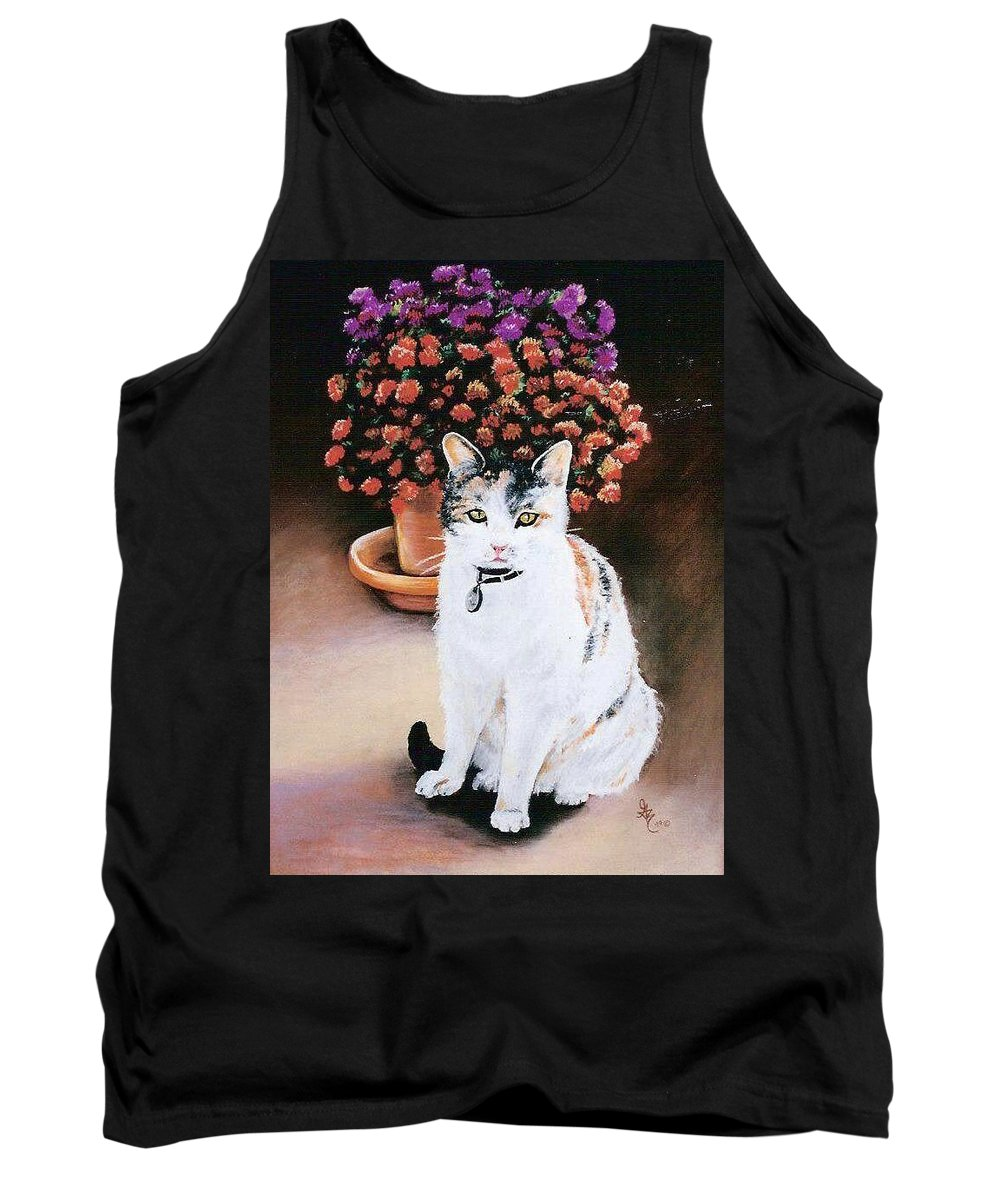 Cat Tank Top featuring the pastel Queen Marishka by Gale Cochran-Smith