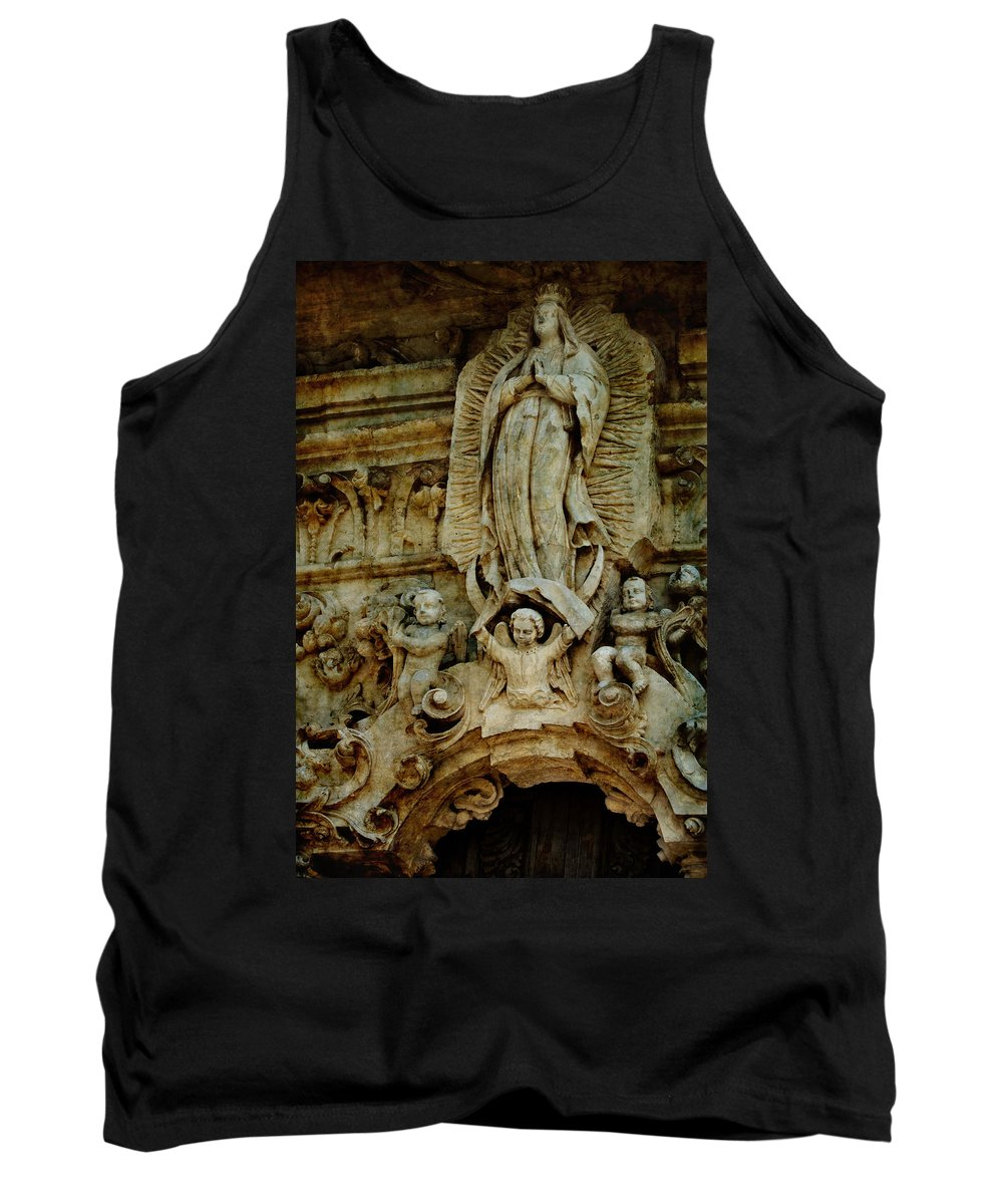 Religious Tank Top featuring the photograph Queen Of The Missions by Renee Hong