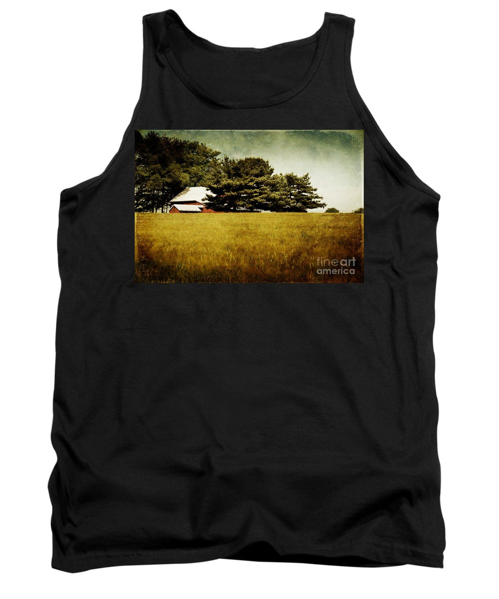 Barn Tank Top featuring the photograph Quiet by Lois Bryan