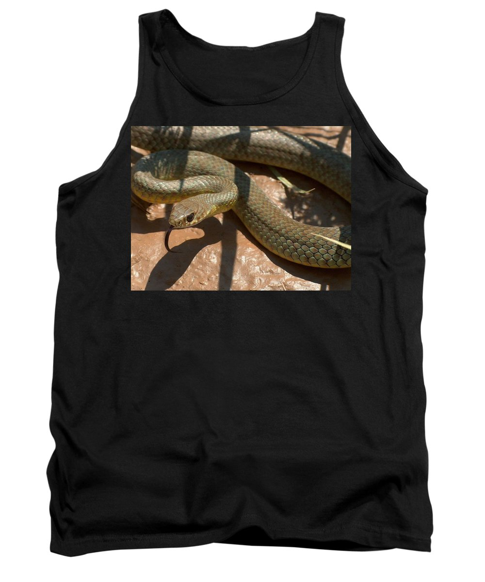 Green Racer Tank Top featuring the photograph Racer On The Rio Grande by Tim McCarthy