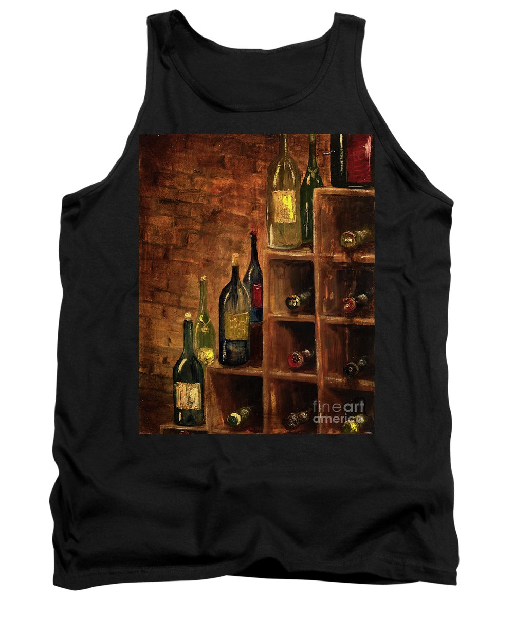 Wine Tank Top featuring the painting Racked Wine by Jodi Monahan