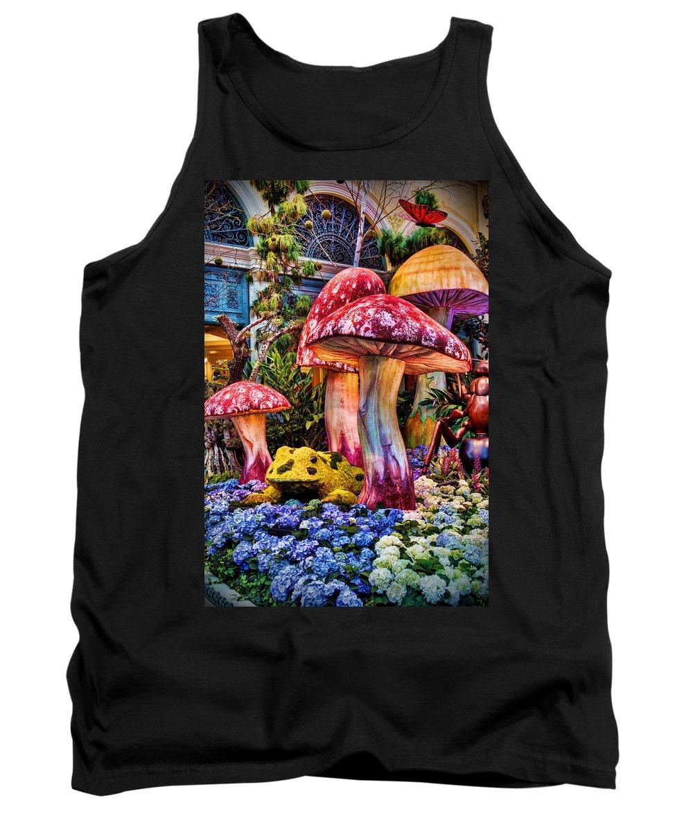 Mushroom Tank Top featuring the photograph Radioactive Mushrooms by Ricky Barnard