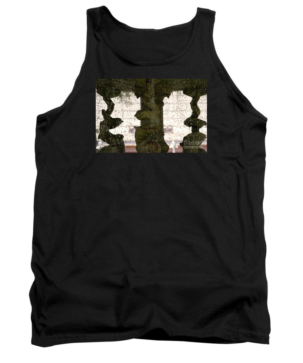 Water Tank Top featuring the photograph Rain Dance by Linda Shafer