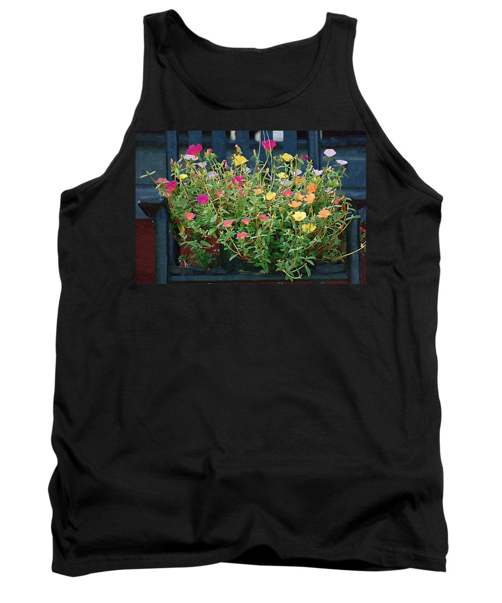 Flowers Tank Top featuring the photograph Rainbow Of Colors by Donna Bentley