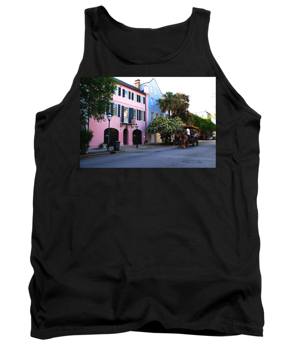 Charleston Tank Top featuring the photograph Rainbow Row Charleston by Susanne Van Hulst