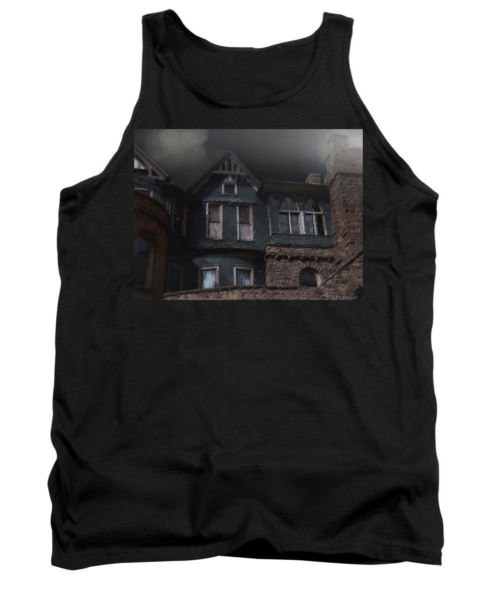 Clouds Tank Top featuring the painting Rainy Night House by RC DeWinter