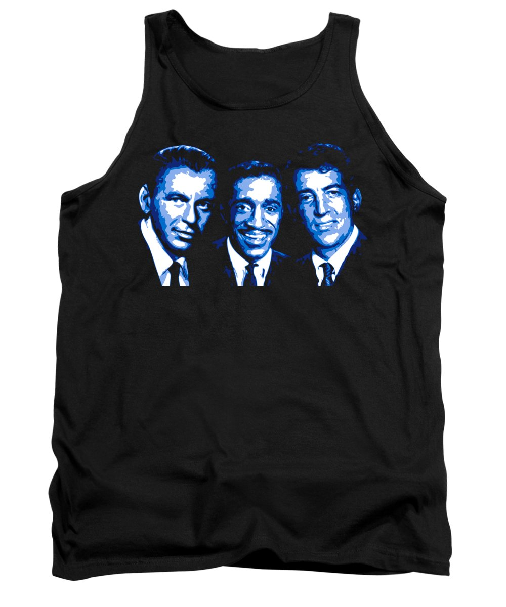 Frank Sinatra Tank Top featuring the digital art Ratpack by DB Artist