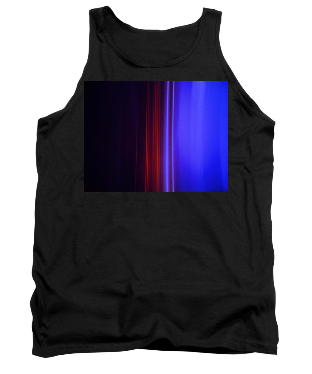 Abstract Blue Tank Top featuring the painting Realm Of Color by Eric Schiabor