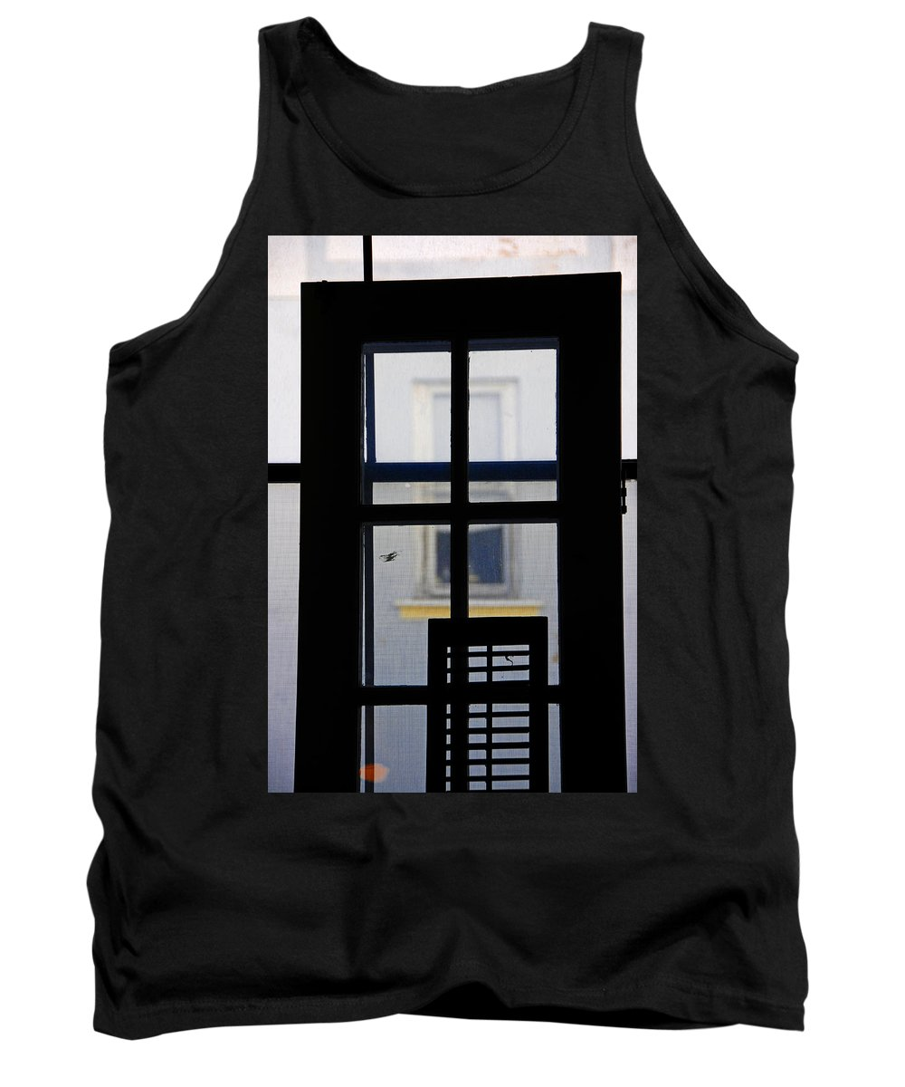 Architecture Tank Top featuring the photograph Rear Window 2 by Skip Hunt