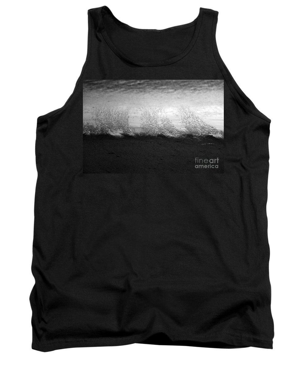 black And White Tank Top featuring the photograph Recession by Amanda Barcon