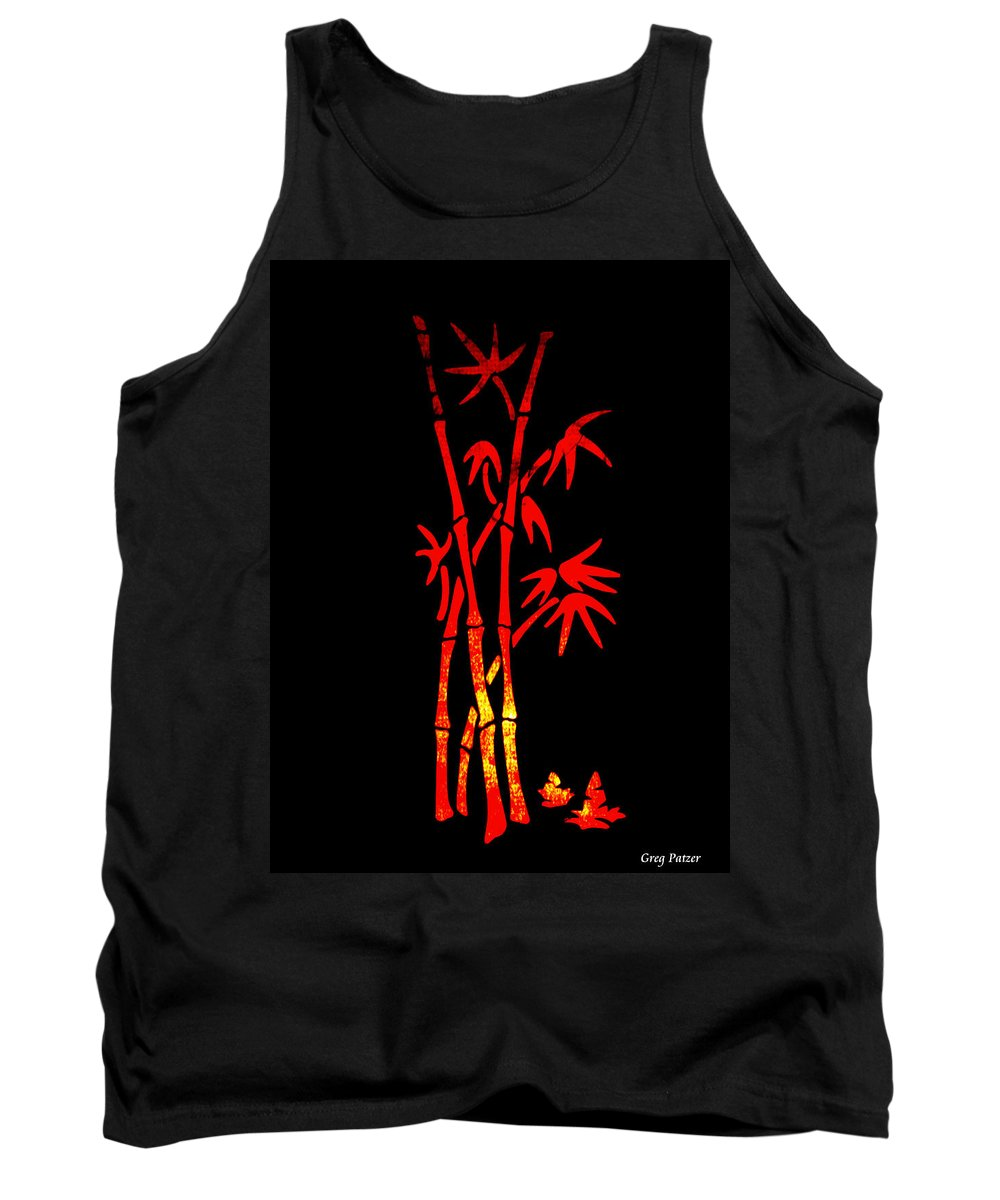 Patzer Tank Top featuring the photograph Red Bamboo by Greg Patzer