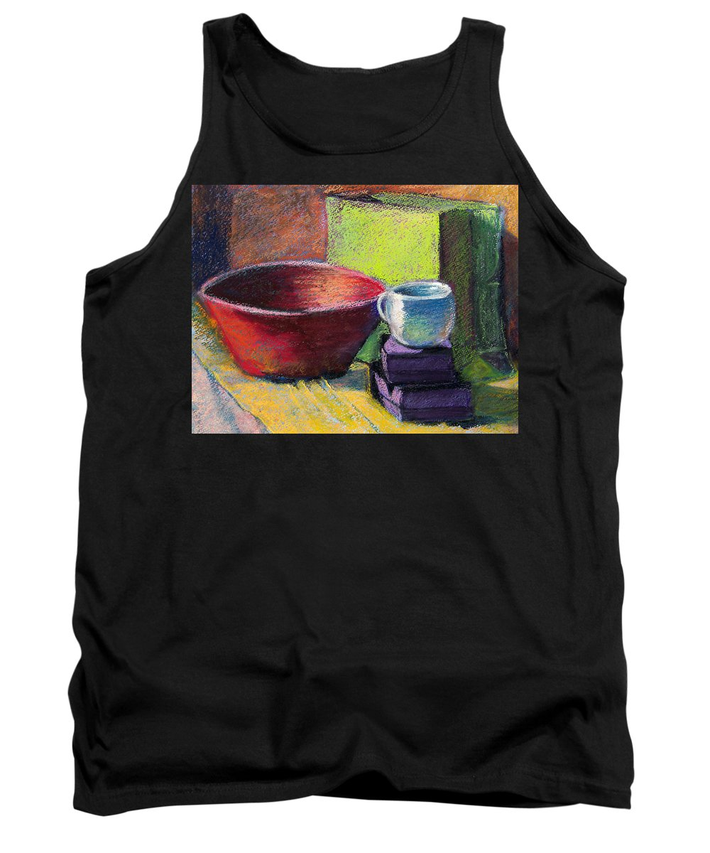 Bowl Tank Top featuring the painting Red Bowl by Laurie Paci