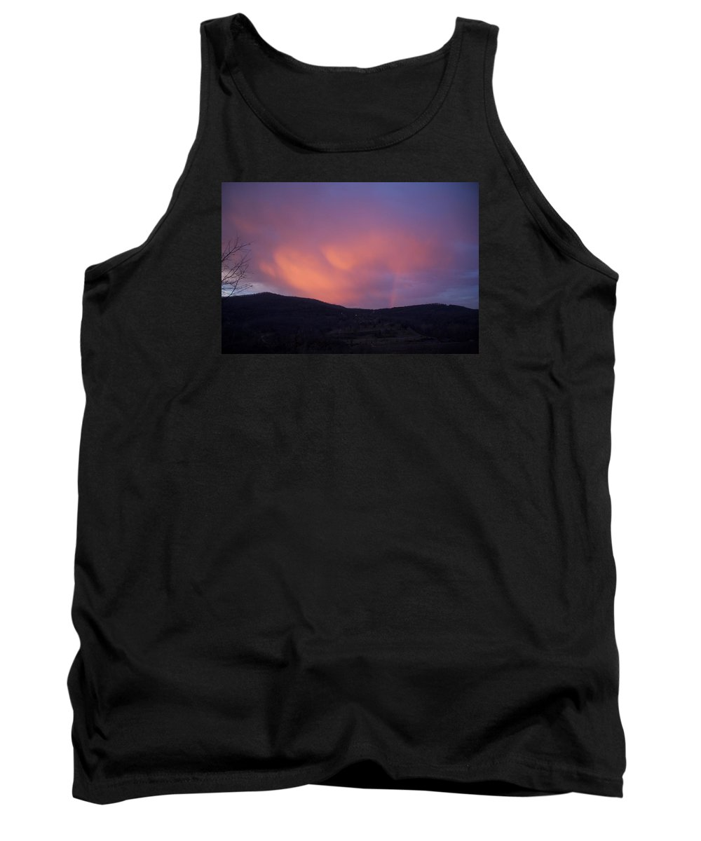 Sunset Tank Top featuring the photograph Red Clouds by Toni Berry