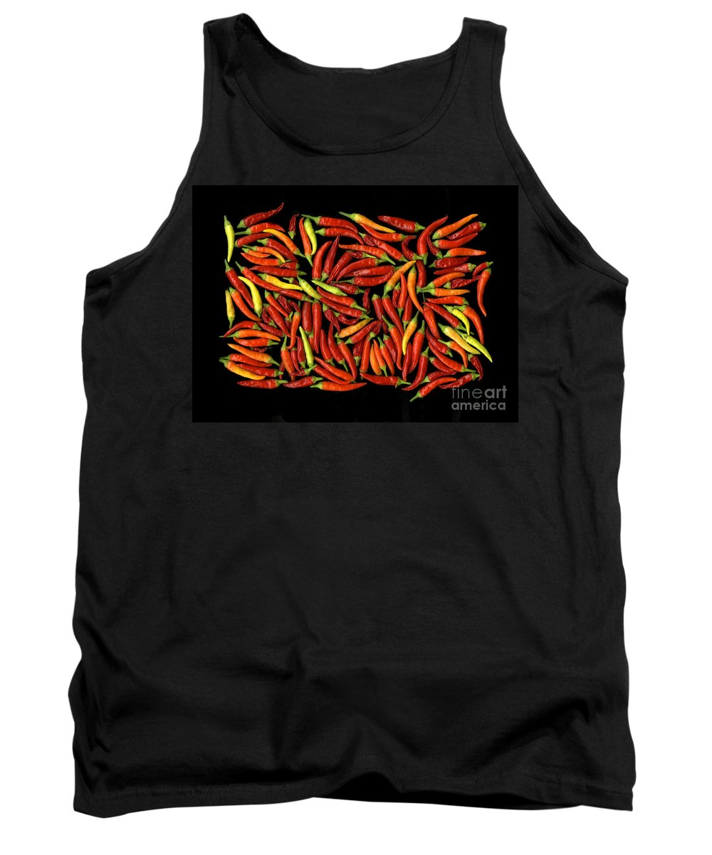 Color Tank Top featuring the photograph Red Hots by Christian Slanec