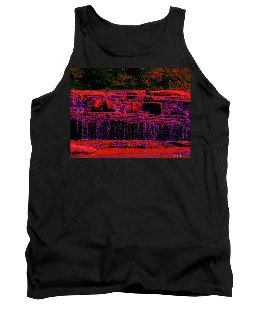 Red River Falls Tank Top featuring the photograph Red River Falls by Edward Smith