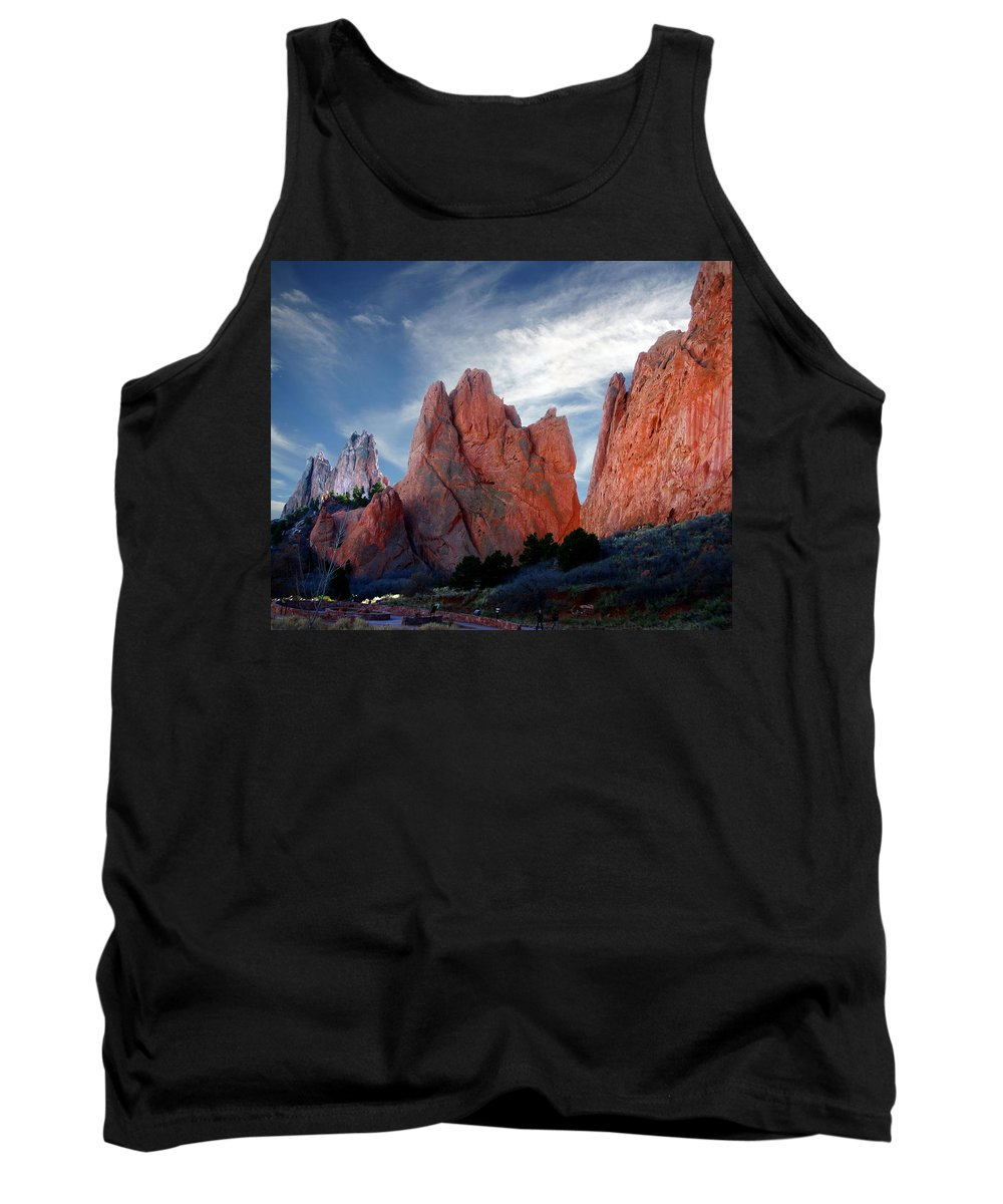 Garden Of The Gods Tank Top featuring the photograph Red Rock by Anthony Jones