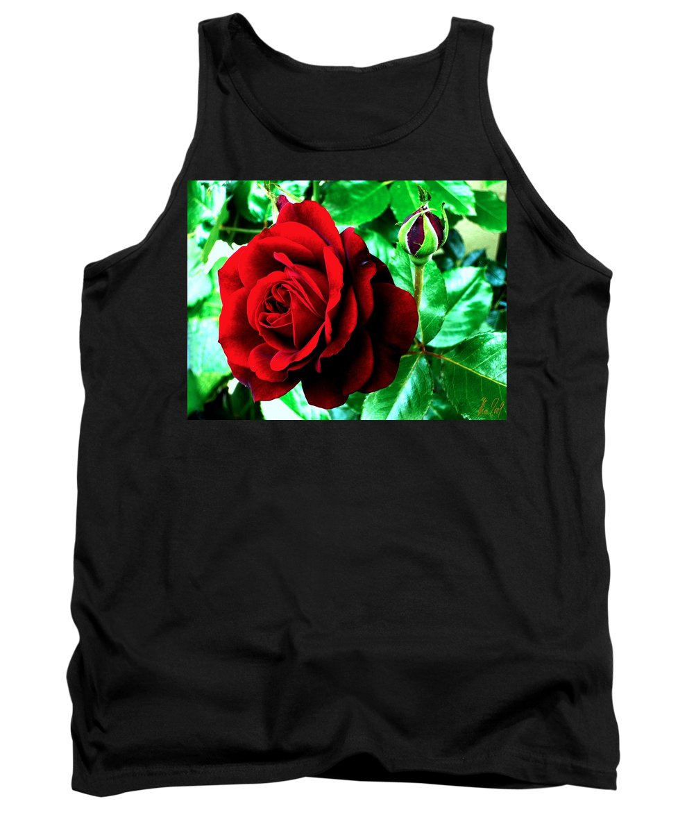 Tank Top featuring the photograph red Rose by Helmut Rottler
