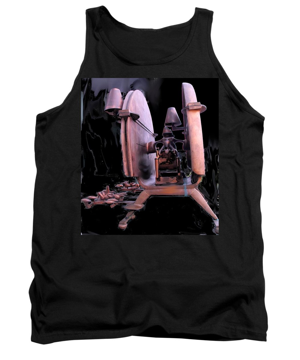 Abstract Tank Top featuring the photograph Red Sculpture by Ian MacDonald