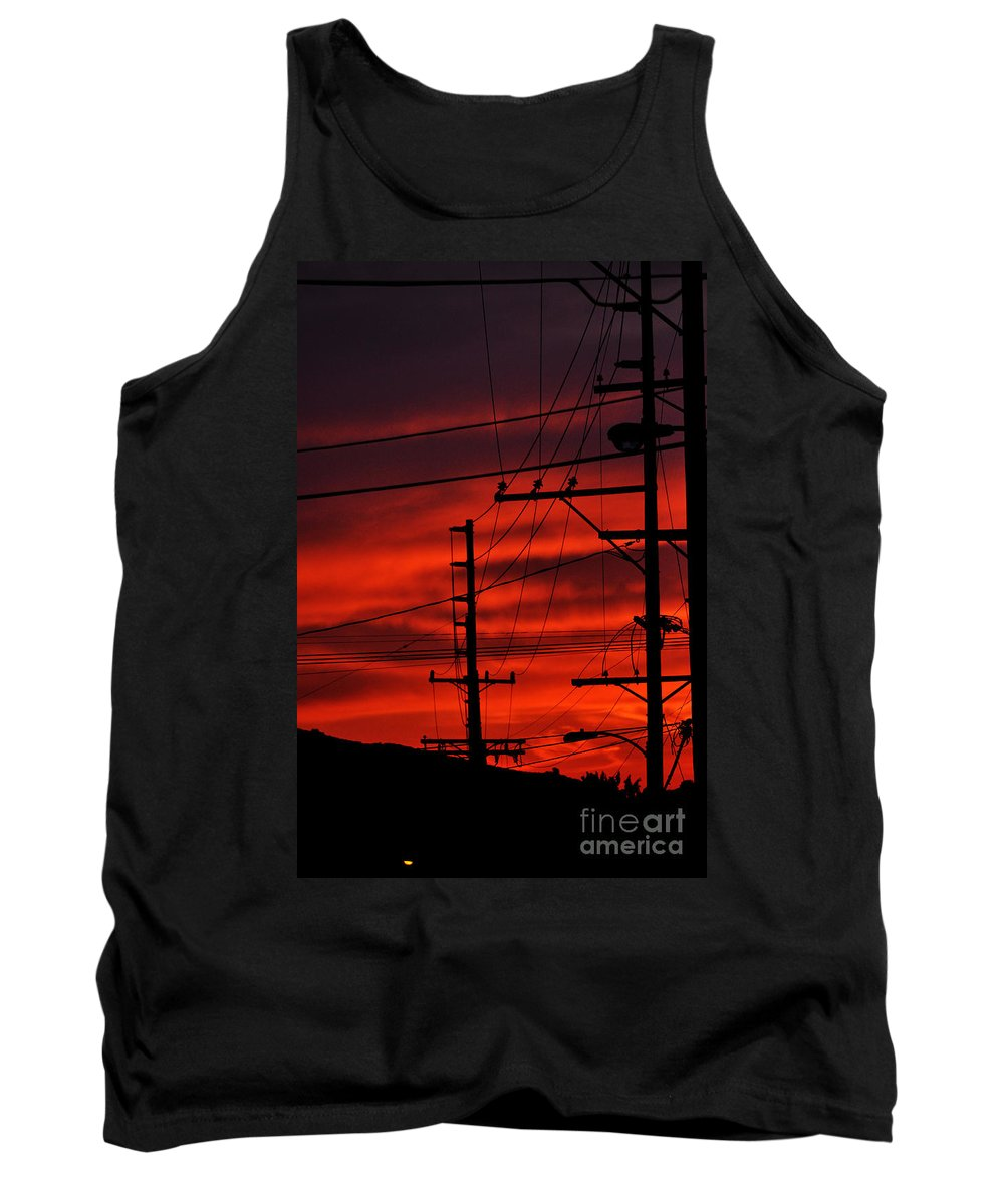 Clay Tank Top featuring the photograph Red Sunset by Clayton Bruster