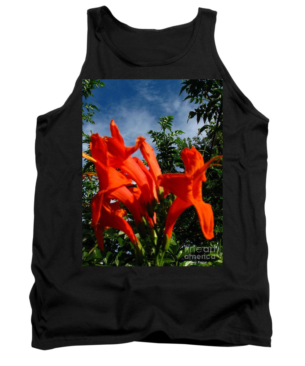 Patzer Tank Top featuring the photograph Red Trumpeter by Greg Patzer