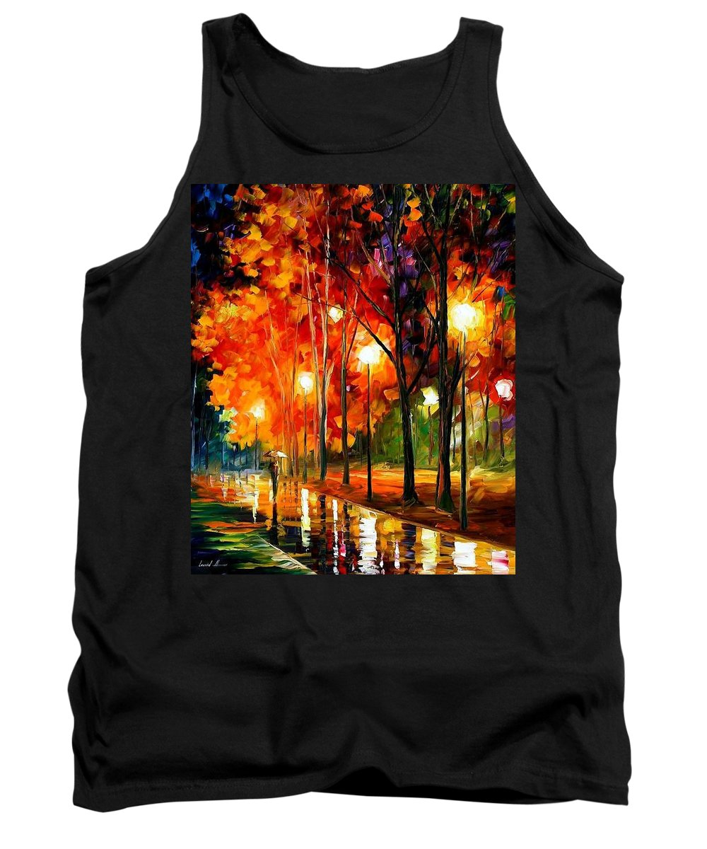 Landscape Tank Top featuring the painting Reflection Of The Night by Leonid Afremov