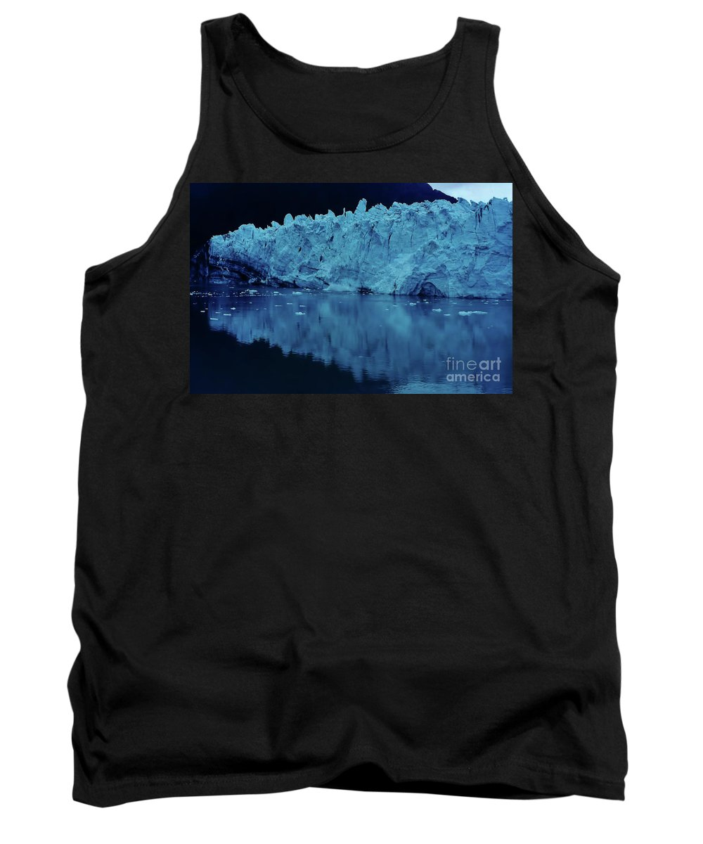 Glacier Tank Top featuring the photograph Reflections - Glacier by D Hackett