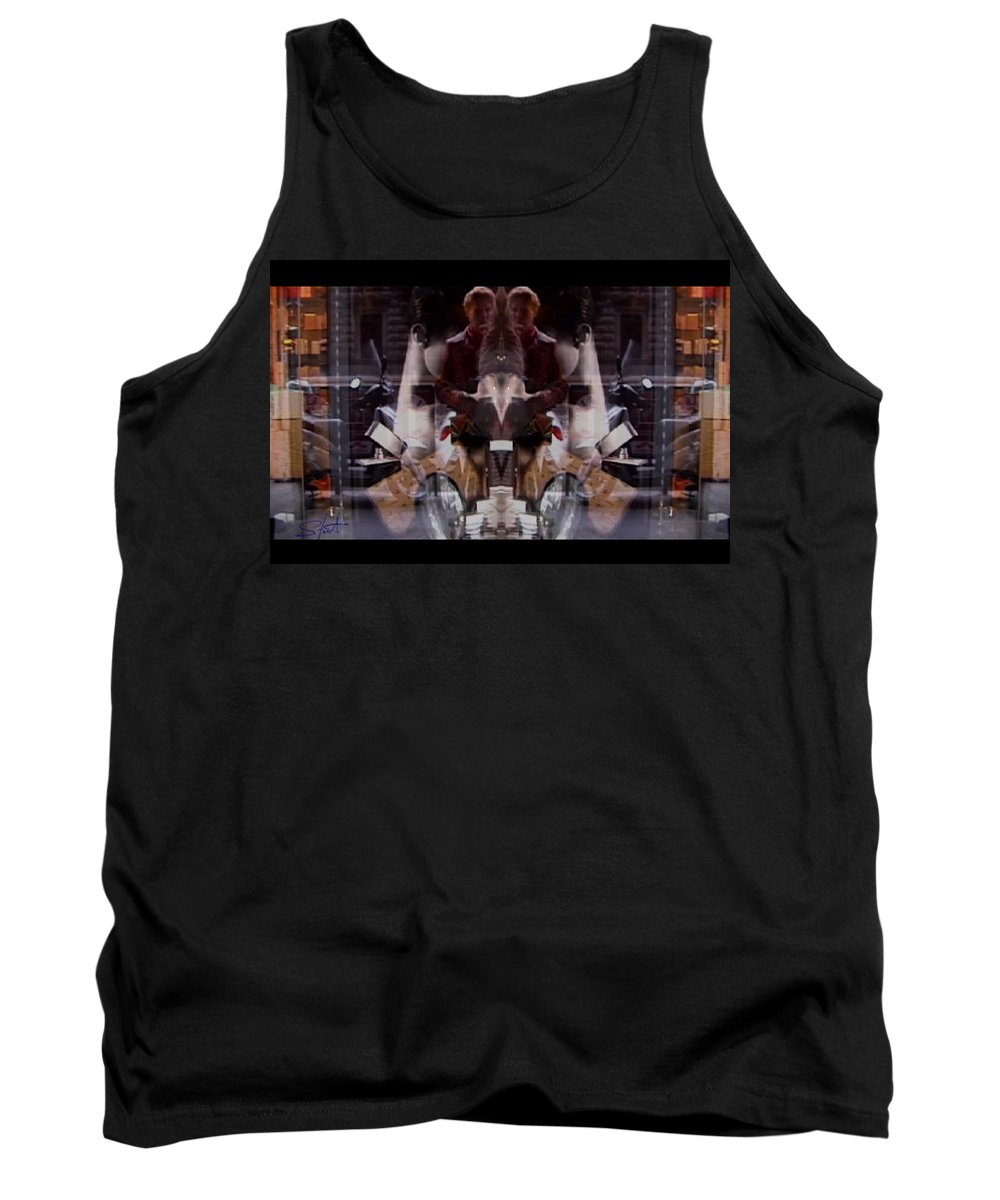 Dream Tank Top featuring the photograph Reflections In A Pharmacy Window by Charles Stuart