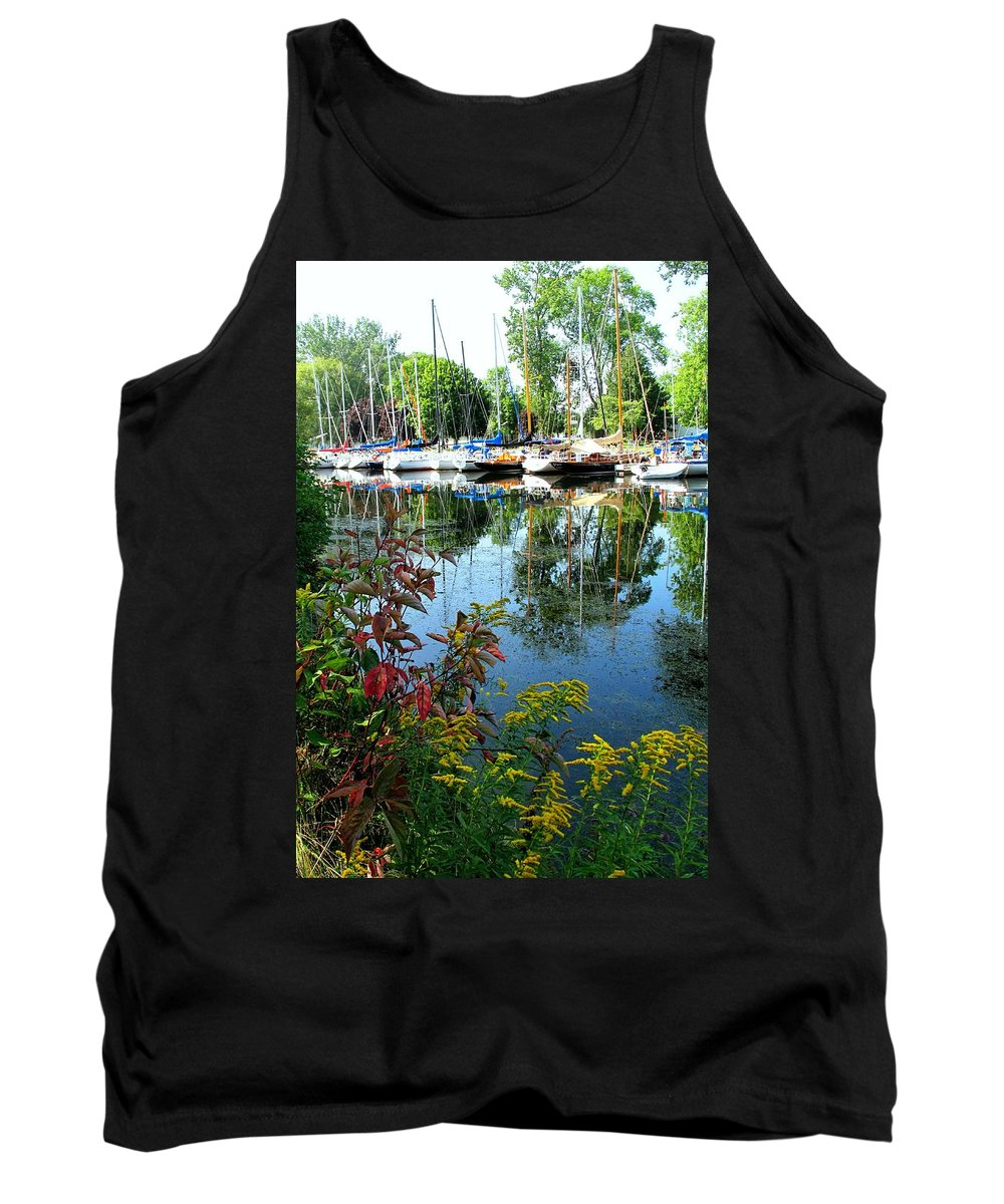 Flowers Tank Top featuring the photograph Reflections In The Pool by Ian MacDonald