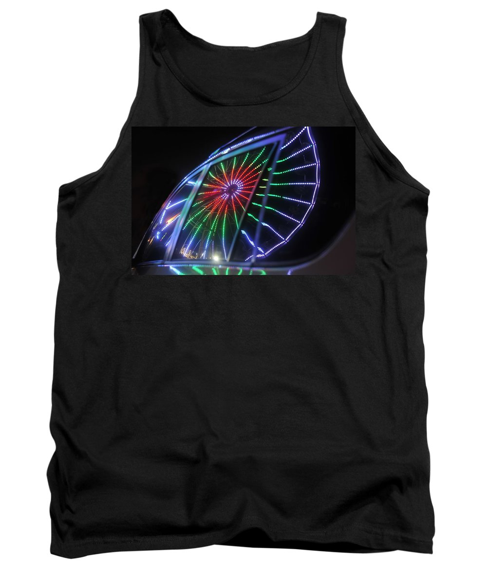 Fair Tank Top featuring the photograph Reflections Of Ferris by David Lee Thompson