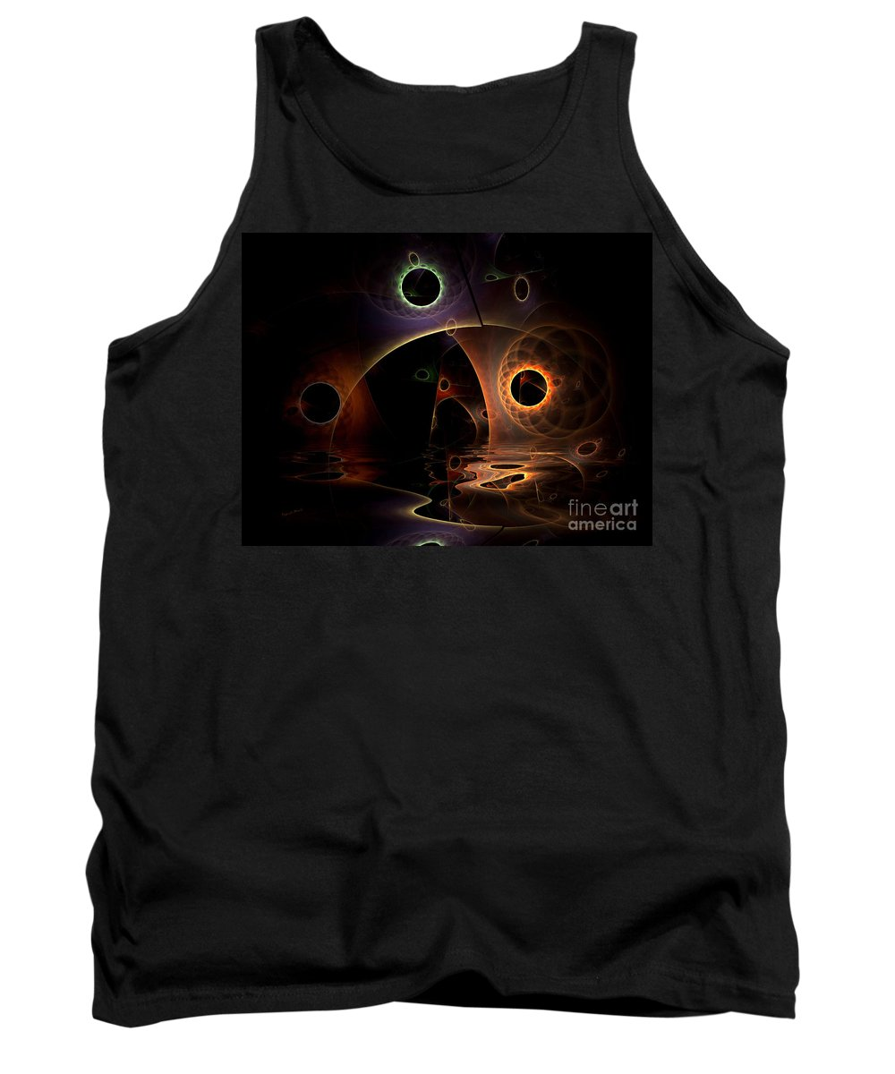 Digital Tank Top featuring the digital art Reflections Of The Mind by Deborah Benoit