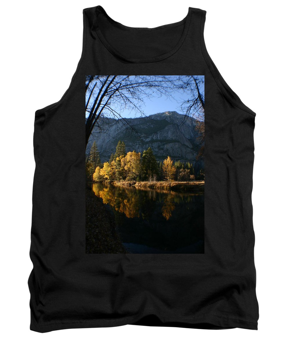 Yosemite Tank Top featuring the photograph Reflections by Travis Day