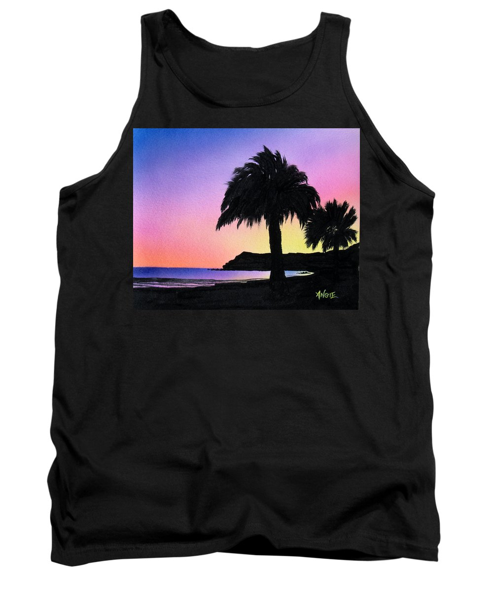Beach Tank Top featuring the painting Refugio Point 1 by Angie Hamlin