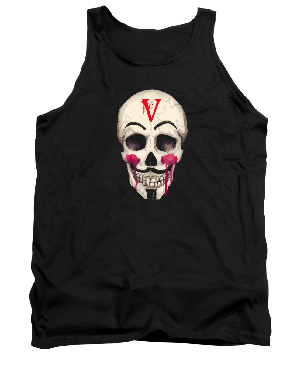 V Tank Top featuring the drawing Remember, Remember Art Print by Ludwig Van Bacon