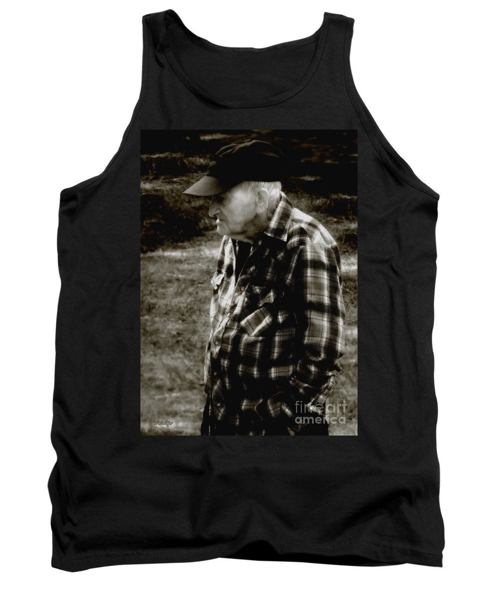 Farmer Tank Top featuring the photograph Remembering Hard Times by RC DeWinter
