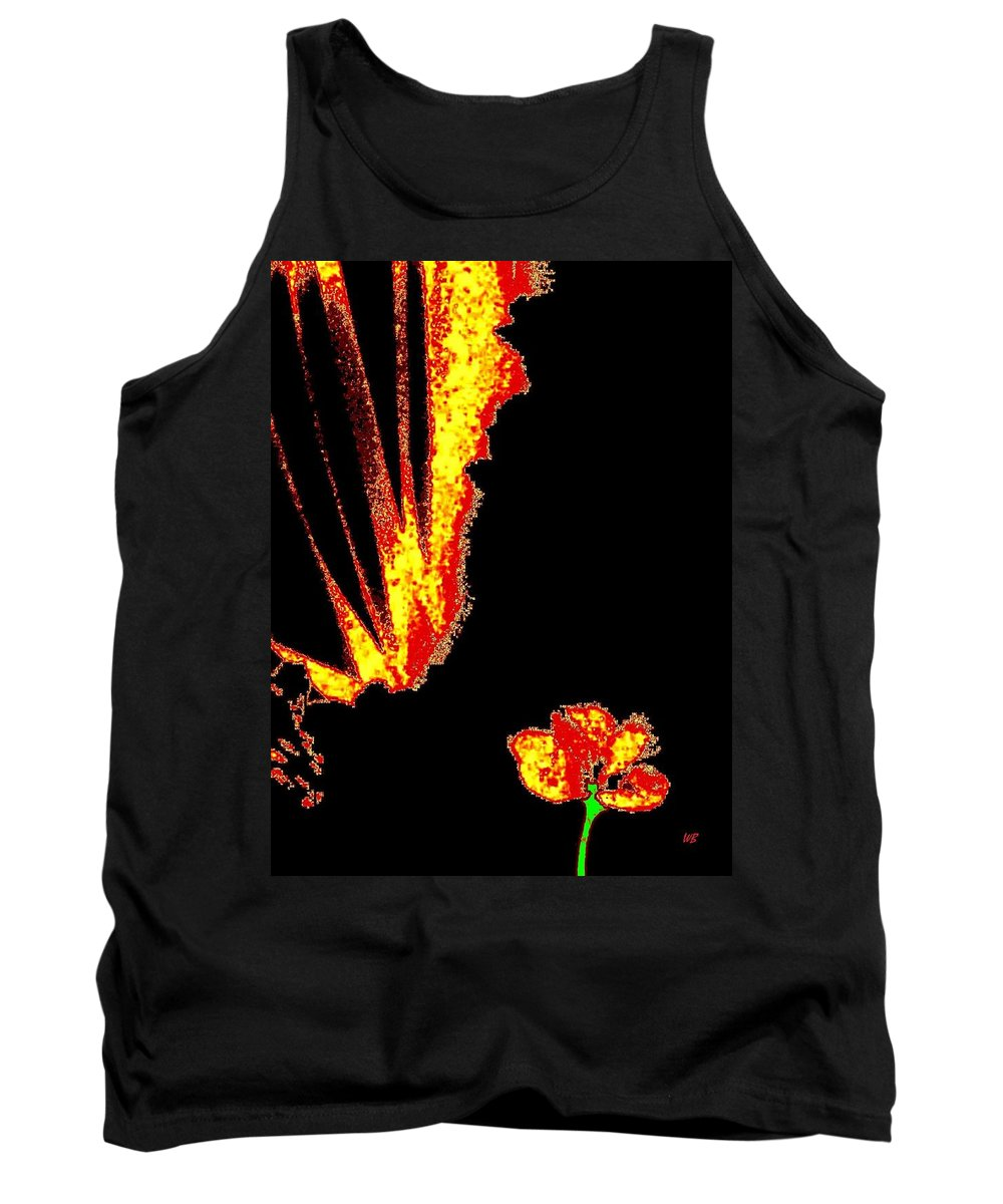 Abstract Tank Top featuring the digital art Reminiscence by Will Borden